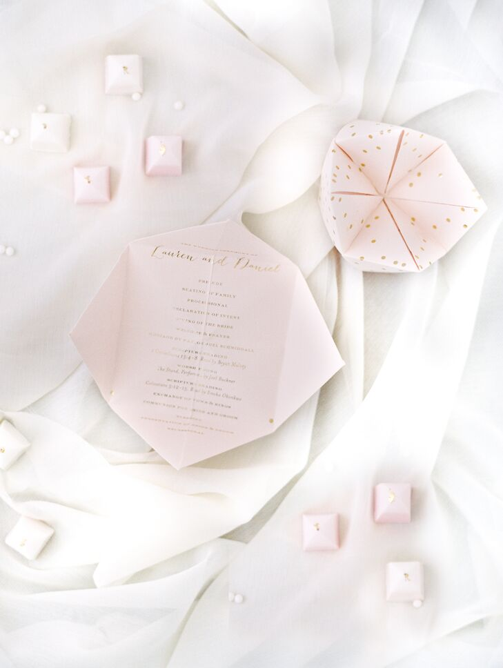 Custom Cootie Catcher Wedding Invitation