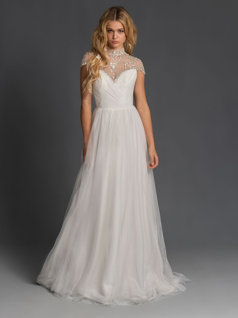 Blush by Hayley Paige Fall 2019 wedding dress with embellished bodice detailing