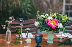 Vintage Glassware as Table Decor