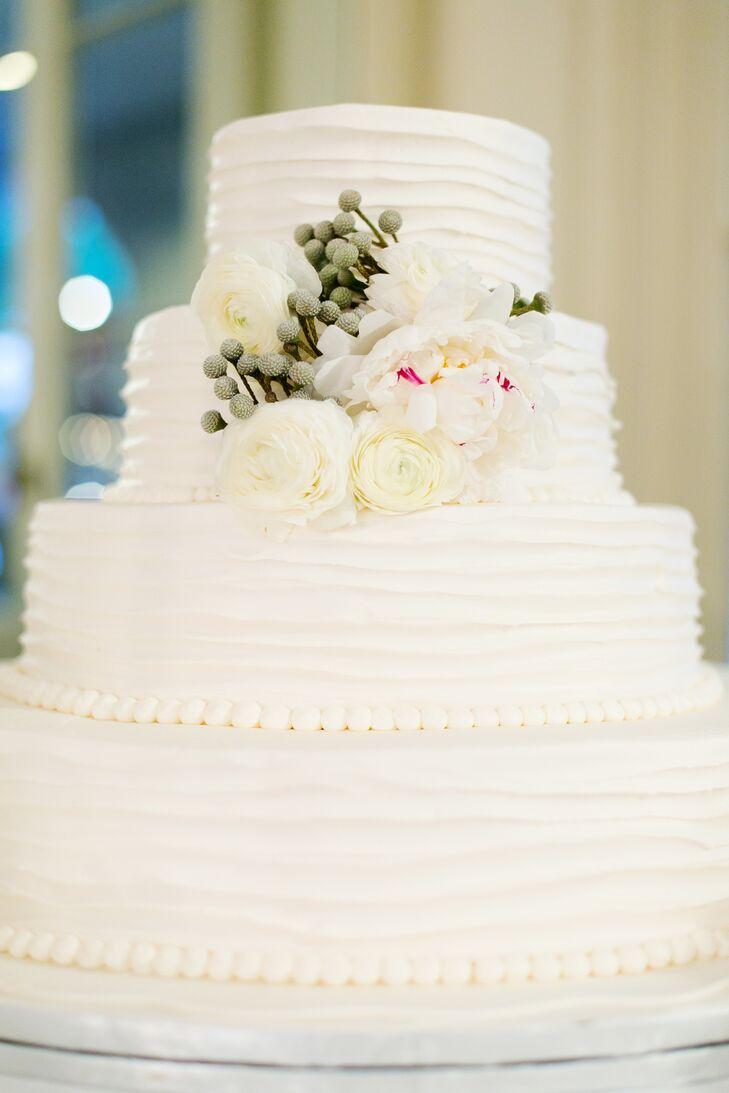 Almond Wedding Cake.Four Tier Almond Wedding Cake