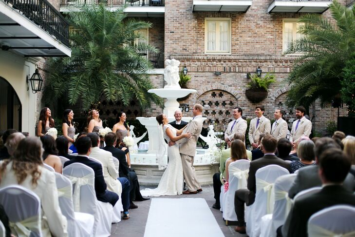 New Orleans, Louisiana Courtyard Ceremony