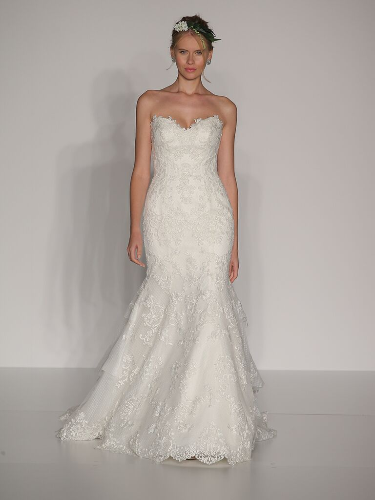 Maggie Sottero Fall 2017 lace strapless sweetheart mermaid wedding dress