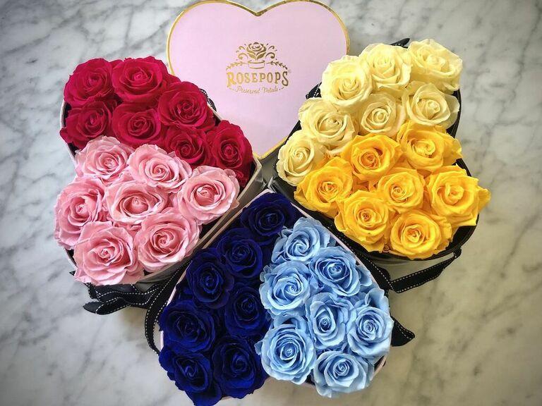 консервированные розы романтическое сердце подарочная коробка для жены