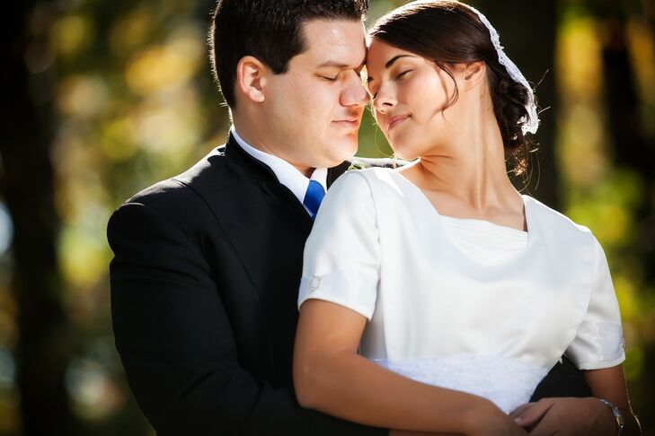 Intimate Bride and Groom Shot