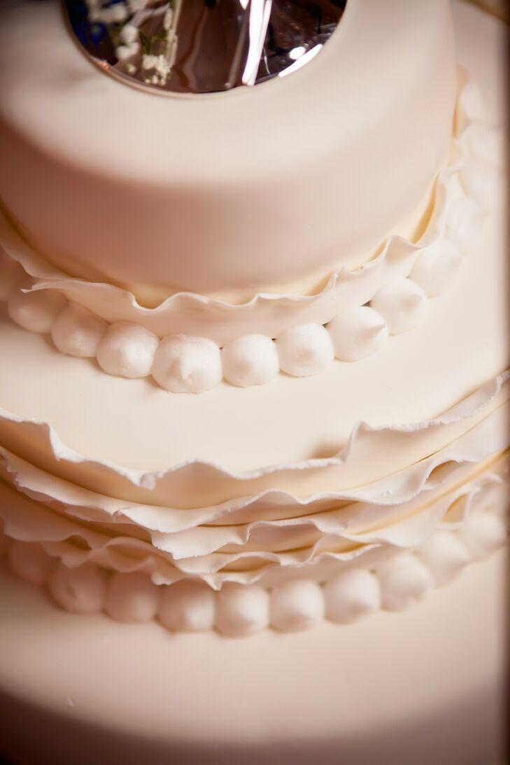Ivory Decorated Tiered Wedding Cake
