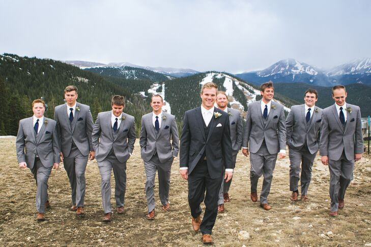 Formal Gray and Navy Groomsmen Look