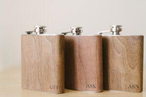 Engraved Wooden Flask Groomsmen Gifts