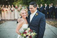 Kalee Stefanski and Aaron Ebalaroza tied the knot on a balmy October day with an intimate garden ceremony in the heart of Franklin, Tennessee.<br><br>