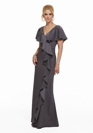 MGNY 72007 Gray Mother Of The Bride Dress