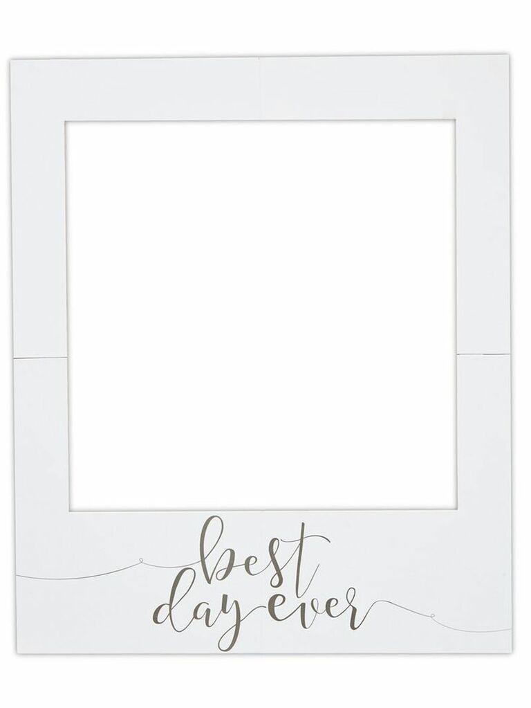 Frame wedding photo booth prop