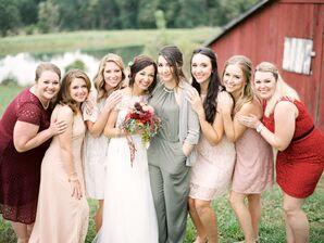 Mismatched Lace Bridesmaid Dresses