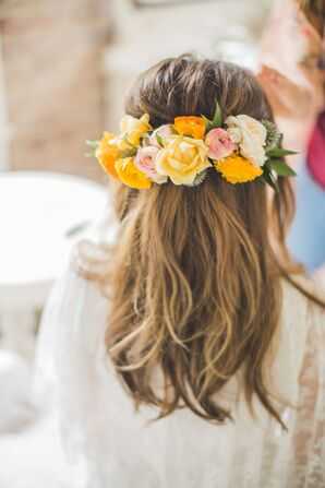 Yellow Rose Flower Crown