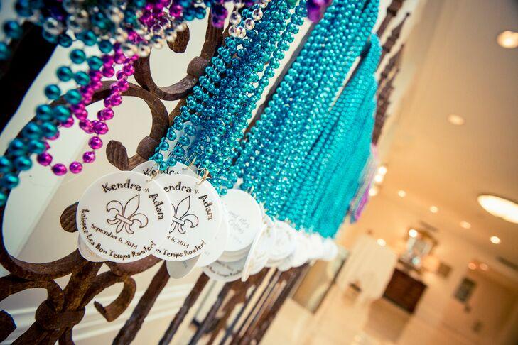 Mardi Gras Beads as Second Line Favors