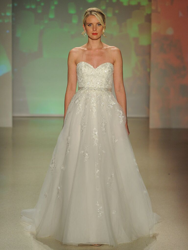 84149873b6a53 Alfred Angelo Rapunzel tulle wedding dress with strapless sweetheart  neckline and full a-line skirt