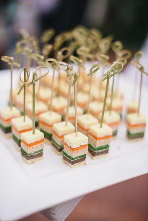 Passed Appetizers at Garden Reception