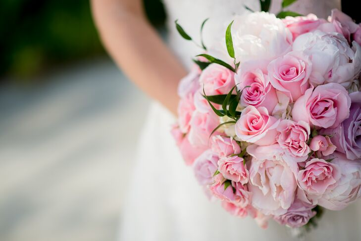 Pink Rose and Peony Bouquet