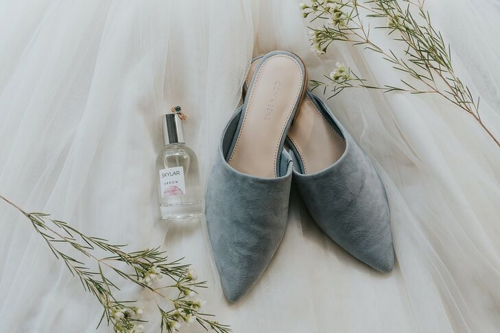 Modern, Casual Blue Flats for Bride