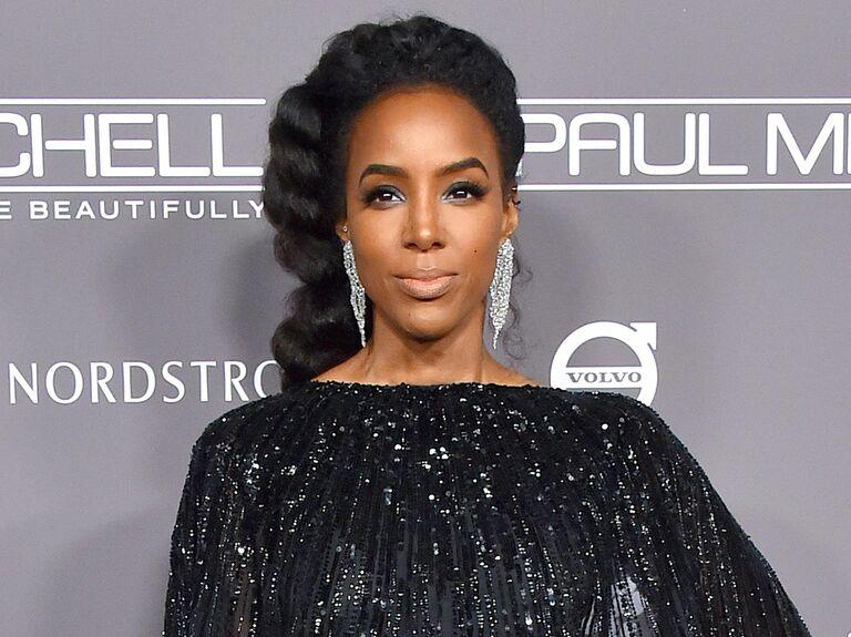 Kelly Rowland braids - Pretty Black Braided Hairstyles for Brides