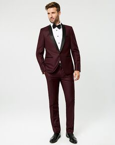 LE CHÂTEAU Wedding Boutique Tuxedos MENSWEAR_361080_343 Red, Black Tuxedo