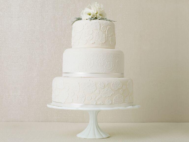 Winter Wedding Cakes Real Weddings Winter Weddings