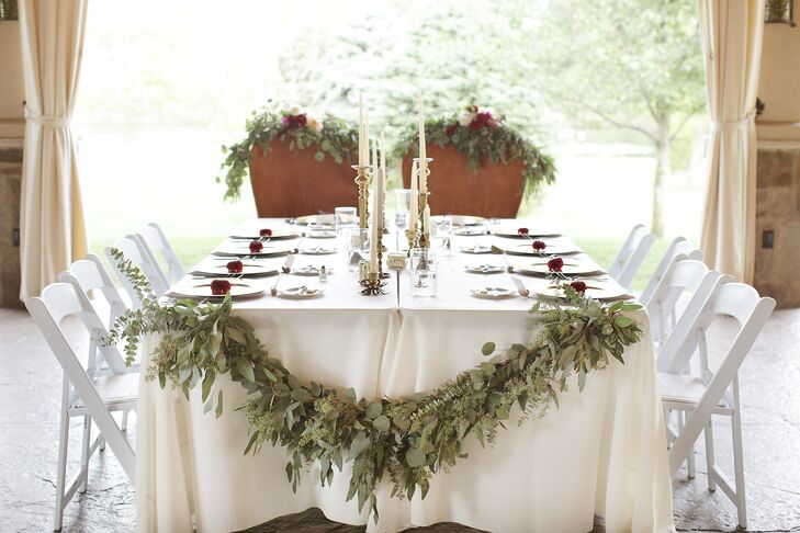 Romantic Eucalyptus Head Table Garland