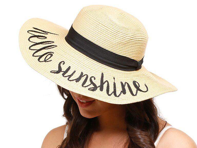 cab01ee434f67 Amtal Hello Sunshine wide-brim embroidered hat