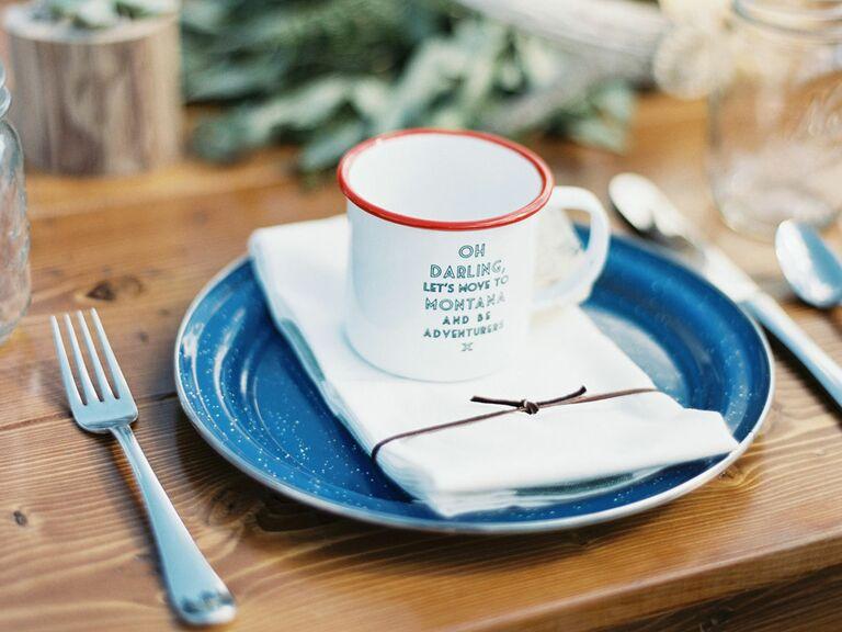 Montana mug wedding favor