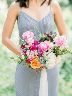 Vibrant Peony Bouquet for Wedding at The 1909 in Topanga, California