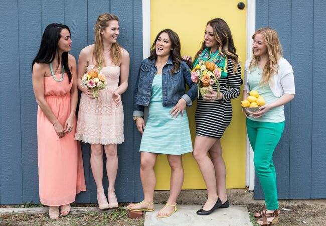 Lemon bridal shower inspiration: Look Wedding Photography / TheKnot.com