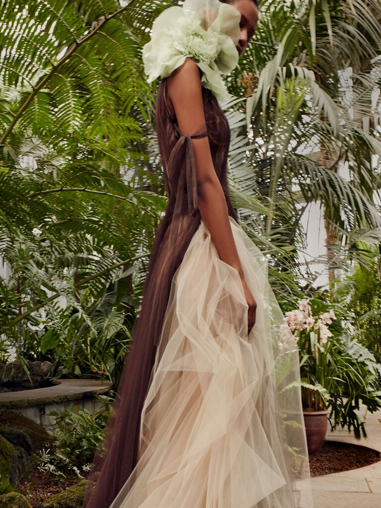 Vera Wang Spring 2020 Bridal Collection tulle wedding dress
