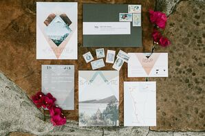 Sunset-Hued Invitation Suite