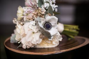 Pastel Bridal Bouquet with Anemones and Peonies
