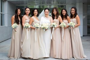 Formal, Long Neutral Bridesmaids Dresses