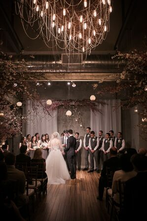 Ceremony Under the Chandelier at Front & Palmer