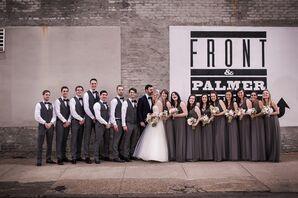 Wedding Party in Gray at Philadelphia Wedding