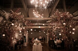 Reception at Front & Palmer with Floating Lanterns