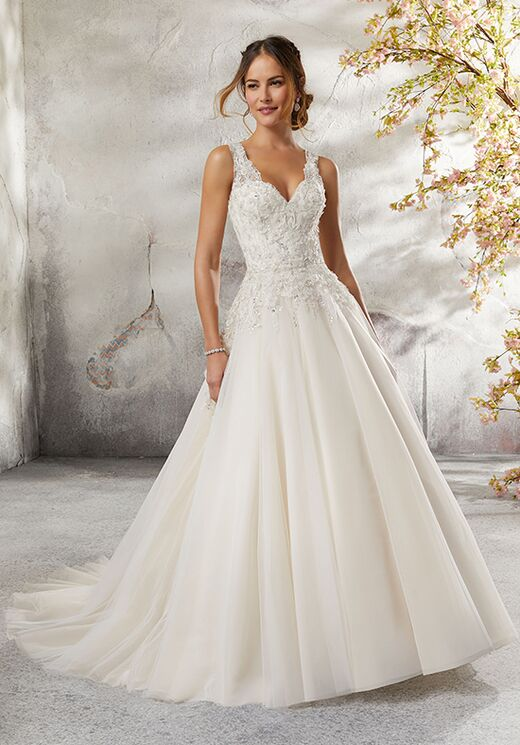 Morilee By Madeline Gardner Blu 5697 Lily Wedding Dress The Knot