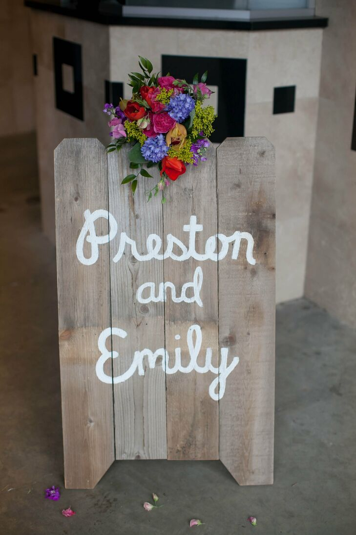 Wooden Sign With First Names
