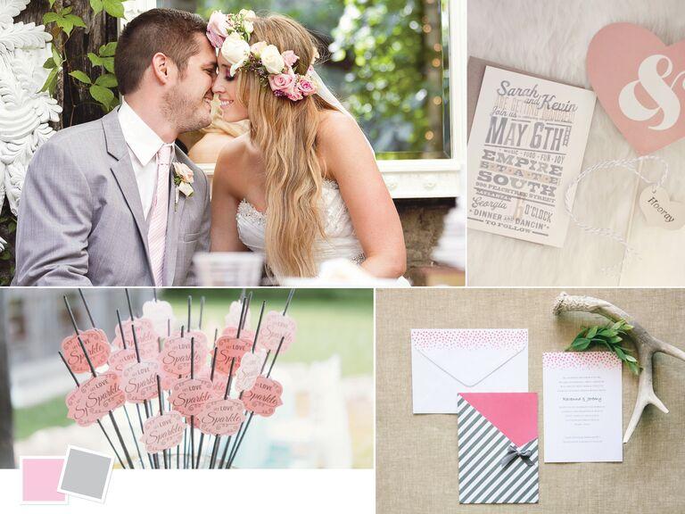 Wedding color palettes we love romantic light pink and gray wedding color palette junglespirit Image collections