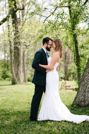 Bride and Groom Outdoor Spring Wedding