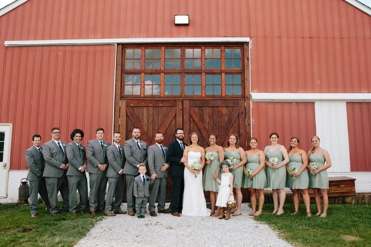 Wedding Party at Avon Wedding Barn