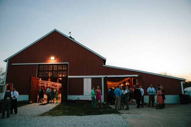 After experiencing their wish for a beautiful spring day, Amy, Ryan and their guests followed their outdoor ceremony with a fun reception in the barn.