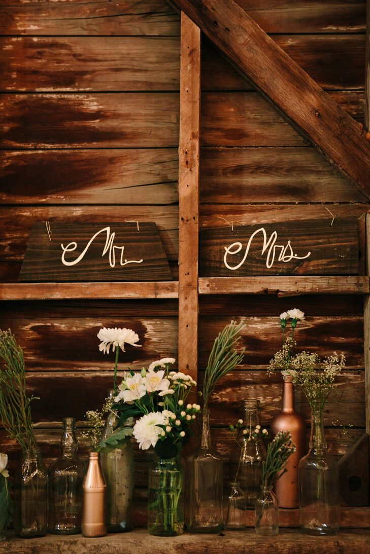 Rustic Wood Name Cards