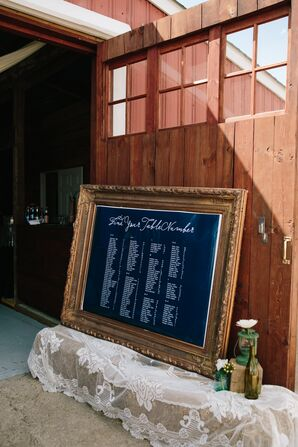 Chalkboard Table Seating Assignments