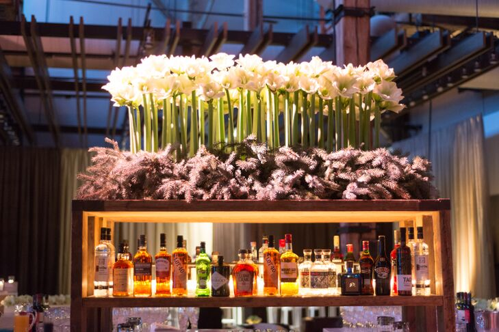 """In addition to the massive bar, the vodka cart served rocked T-shirts emblazed with """"It's all downhill from here."""""""