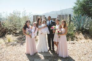 Rustic Outdoor Ranch Wedding, Blush Bridesmaid Dresses