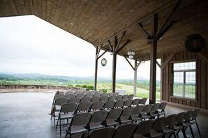 Covered Outdoor South Carolina Mountainside Ceremony