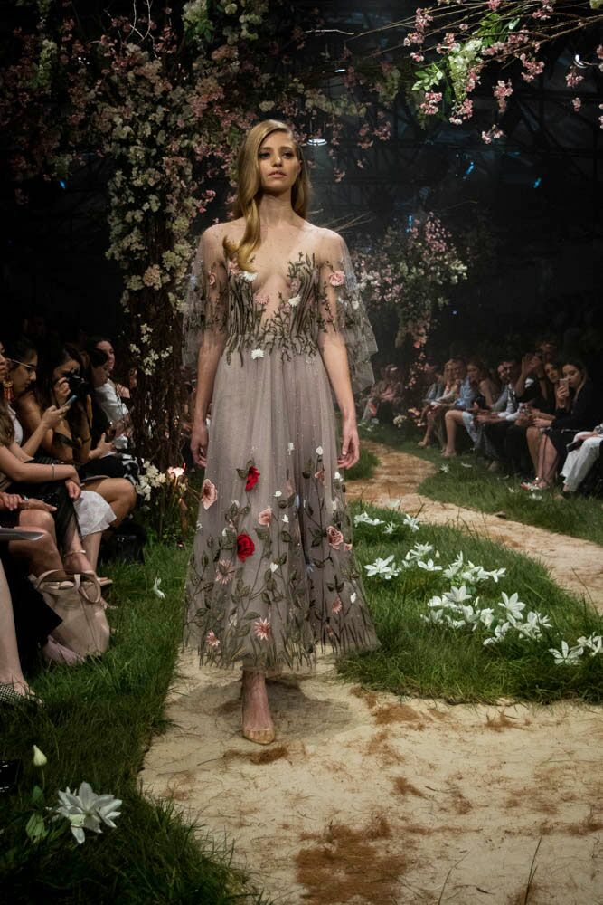 Paolo Sebastian Disney gowns floral embroidery