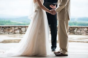 Rustic Champagne Tulle Wedding Gown