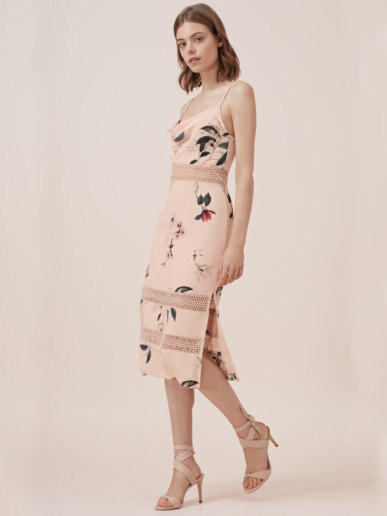 Cute floral dress for summer weddings, Keepsake Do It Right dress